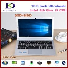 Новые марки 13.3 «мощный 5th поколения i5 ноутбук с 4 ГБ Оперативная Память 500 ГБ HDD 1920*1080, металлический корпус, Окна 10