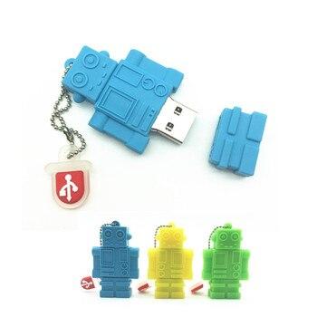 2018 Hot New Creative Robot Machine Pen Drive 8GB 16GB 32GB 64GB USB Flash Drive Cute USB 2.0 Flash Memory Stick Pendrive Gifts