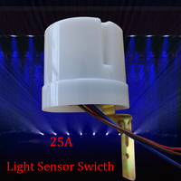 AC 220V 25A Automatic Photoelectric Photo Switch Sensor Lighting Sensor Control Switch Outdoor 1pc