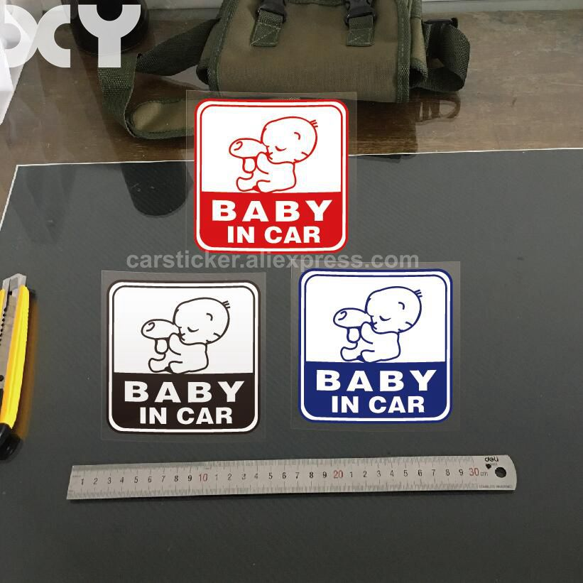 Baby In Car Sticker Vinyl Decal Truck Car Window Bumper