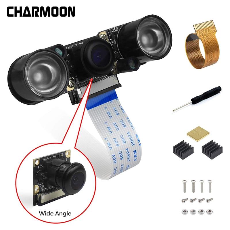 For Raspberry Pi Camera Fisheye Wide Angle /Infrared Night Vision/IR Cut Filter Camera 5MP Webcam Video Camera For Raspberry Pi3