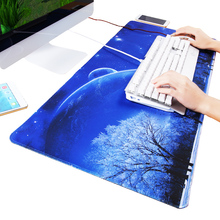 Blue Starry 120x80x0.2cm Large Mouse Pad Locking Edge Naturel Rubber Gaming Mousepad Mat for CS GO Dota2 Mouse Mice for Gamer stitched edge rubber cs go large gaming mouse pad pc computer laptop mousepad for apple logo style print gamer speed mice mat