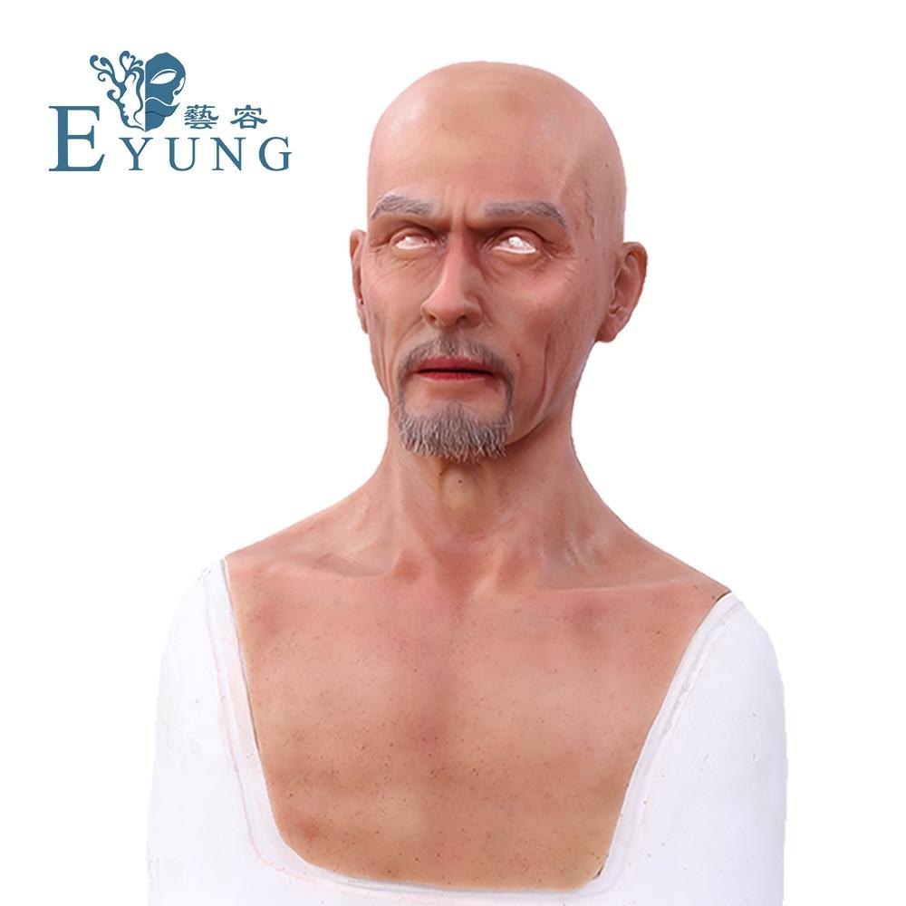 EYUNG Чарльз человек Европе лица моделирования маска Топ реалистичные силиконовые старый мужчины Маскарад кино и телевидения специальные эф...