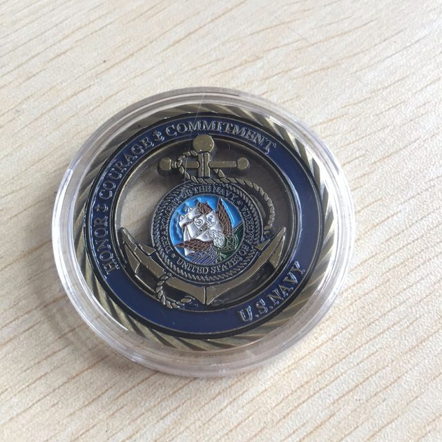 U S Navy Core Values Usn Challenge Coin Free Shipping