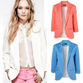 Moda mujer Blazers marca capa de la chaqueta, Lady tamaño más de siete de manga trajes sólido XXL F4299