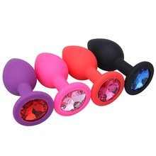 RunYu Silicone Smooth Anal Plug Intimate Goods For Couples Butt With Crystal No Vibrator Sex Toys Adults Cork