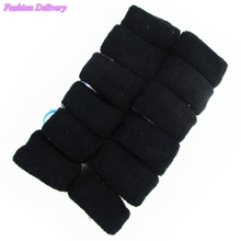 60pcs/Lot Black Wide Towel Hair Bands Fluffy Hair Rope Headdress Girls Hair Accessories Free Shipping