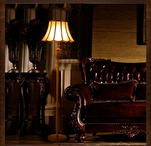Gold copper floor light fixture fashion luxury standard lamp royal ...