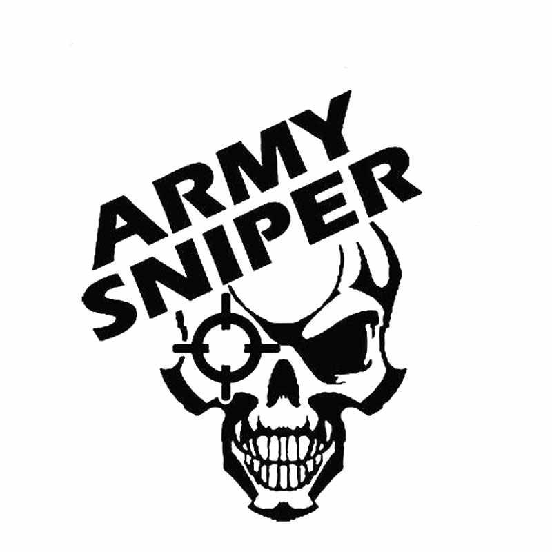 9.8 ซม.* 12.7 ซม.Army Sniper ไวนิล Decal Beret กองกำลังพิเศษ Recon USMC Navy รถสติกเกอร์อุปกรณ์เสริม Black Sliver c8-1245