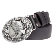 2018 women Genuine Leather belt Boots Retro pattern lady cow