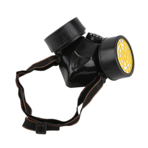 Image 2 - Half Gas Mask Respirator Organic Vapor Chemical Anti Dust Paint Industrial Dual Filters Safety Protection Mask Goggles Wholesale