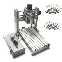 Cnc 3020 roteador de madeira 3 eixos com 400w eixo máquina de trituração de metal com bocados de perfuração