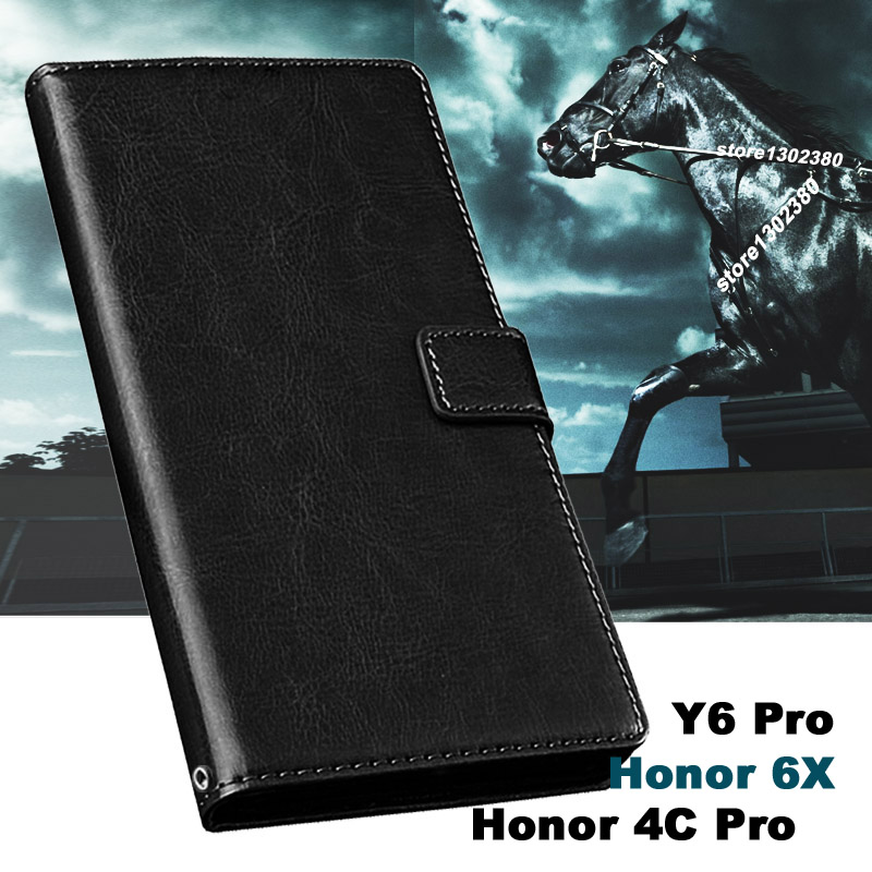 Hauwei honor 4c pro case cubierta de cuero crazy horse case para huawei honor 4c