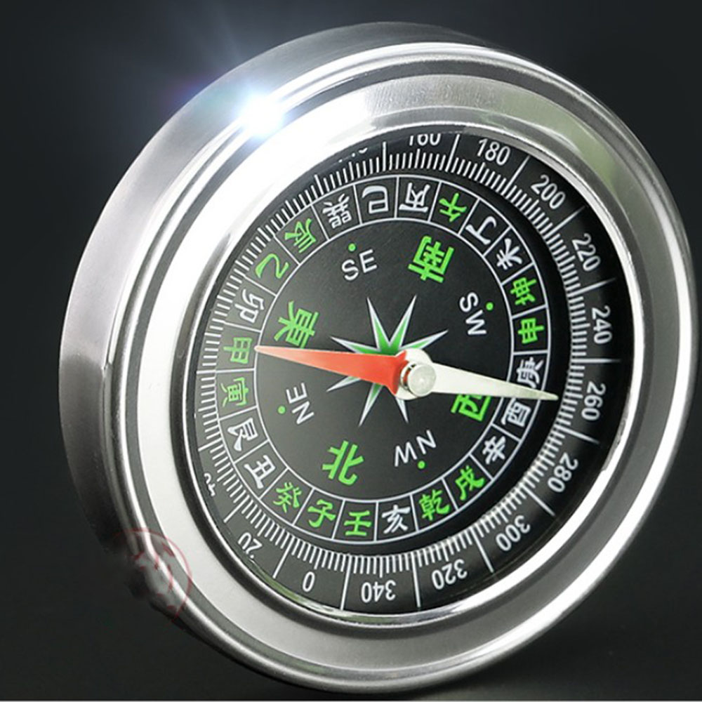 Mini Stainless Steel  Portable Compass  For Outdoor Sports Diameter 76mm