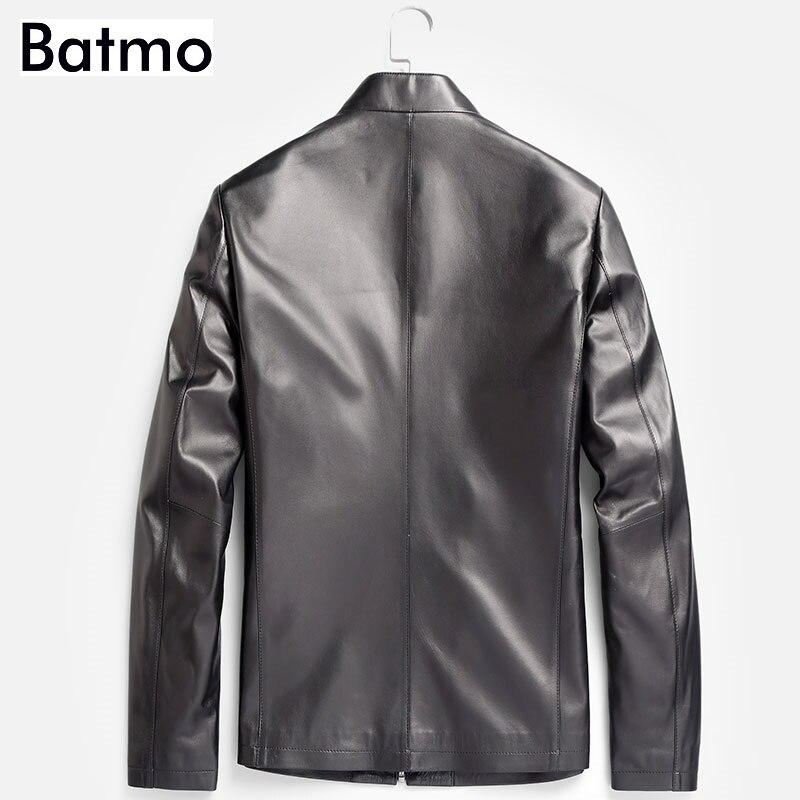 91e85da27f52 Batmo 2017 new arrival summer 100% sheepskin Genuine Leather men ...