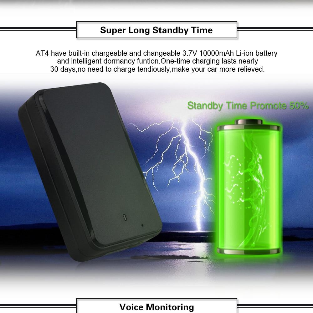 Besorgt Multi-funktion Fahrzeug Gerät Wifi Gprs Gps Tracker At4 Gt730 Hören-in Tamper Alarm Wasserdichte Starke Magnet Installation Jade Weiß