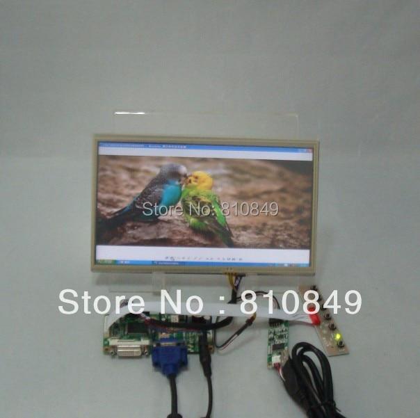 DVI+VGA Lcd Control board+10.1inch LP101WH1 N101BGE 1366*768 Lcd+Touch Panel hdmi dvi vga control board 14inch 1366 768 bt140xw02 lcd panel with touch panel ltn140at07 lp140wh1 bt140xw02 ht140wxb