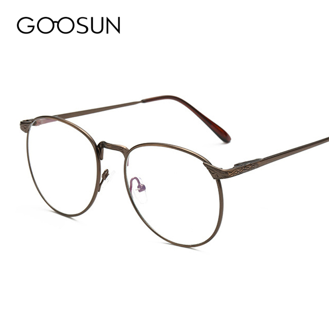 Classic Vintage Alloy Eye Glasses Frames For Women optical UV400 Computer Radiation protection Clear Lens Eyeglass Frames Men