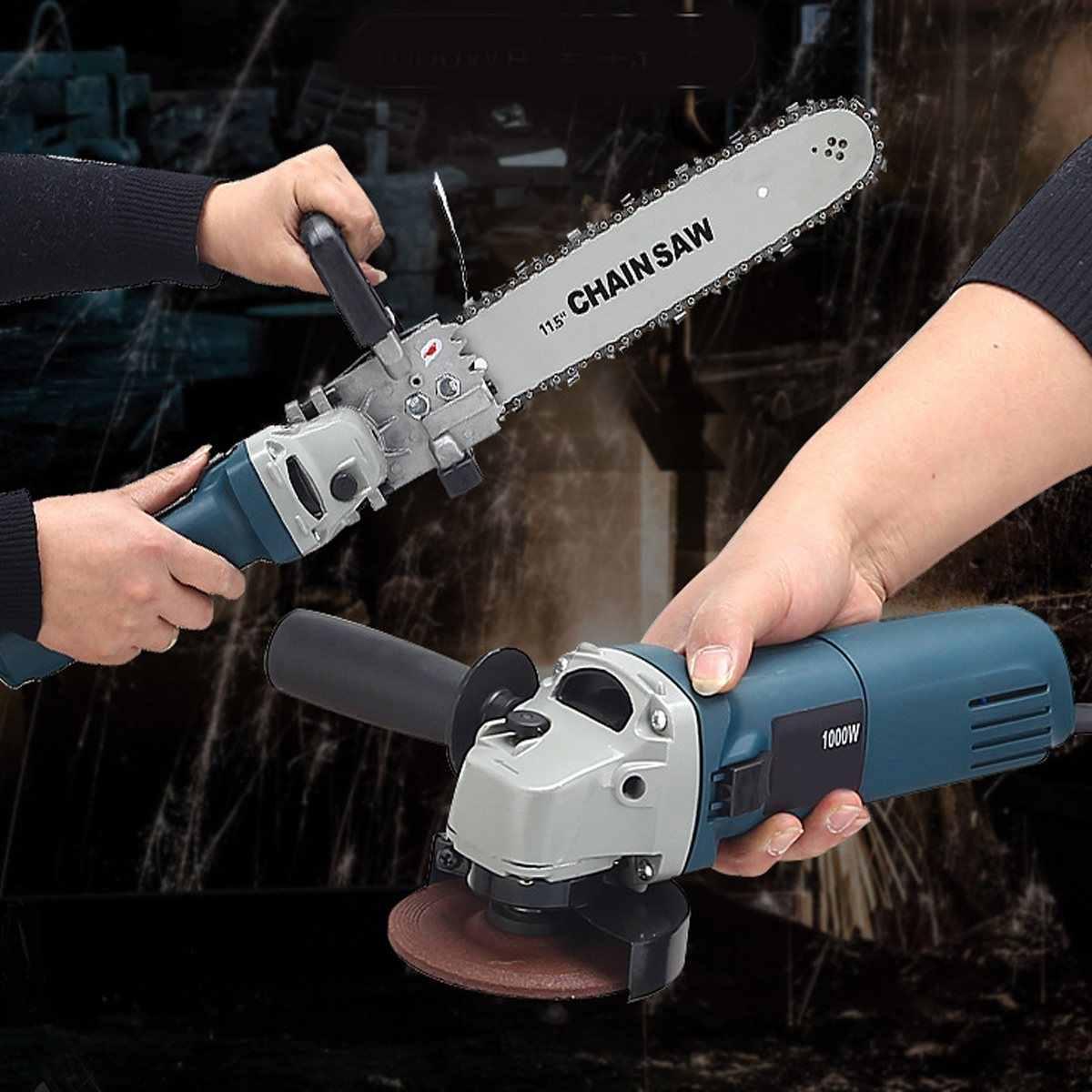 """1000 W 220 V 11000 סל""""ד 6 מהירות מתכוונן חשמלי 100 זווית מטחנות + המנסרים נגרות חיתוך Chainsaw סוגר מטחנות"""
