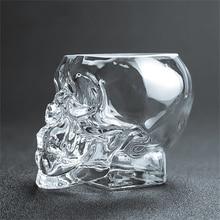 150ml/350mlSkull Glass beer stein shot wine glass Head Whiskey Drinking popular design new fashion party