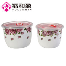 1 pièces classique chinois émail alimentaire stockage bols sain thé Caddy Canister Portable voyage stockage bouteilles scellé alimentaire conteneur(China)