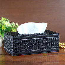 Home paper pumping box quality fashion tissue of luxury leather washouts household