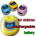 FDA CE Approved  O LED Pediatric Pulse oximeter  for Child Kids SPO2 Blood Oxygen Monitor with Rechargeable Battery