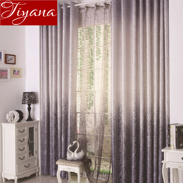 Trees Curtains Sheer Voile Window Curtains Modern Living Room Bedroom  Curtains Tulle Drapes Rural Curtains Fabrics Part 39