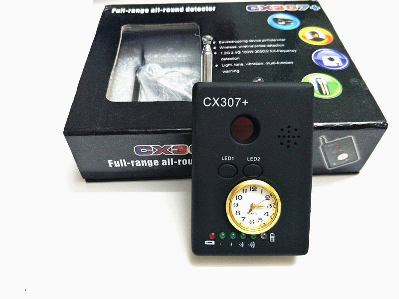 CX307 Multi function Wireless RF Signal Camera Detector Camera Finder with Clock Cell Phone Buster Mobilephone Detectors