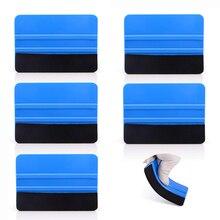 EHDIS – grattoir en plastique pour vitres de voiture, 5 pièces, Film en Fiber de carbone, feutre, raclette housse de voiture en vinyle, outils de teinture, détacheur dautocollants