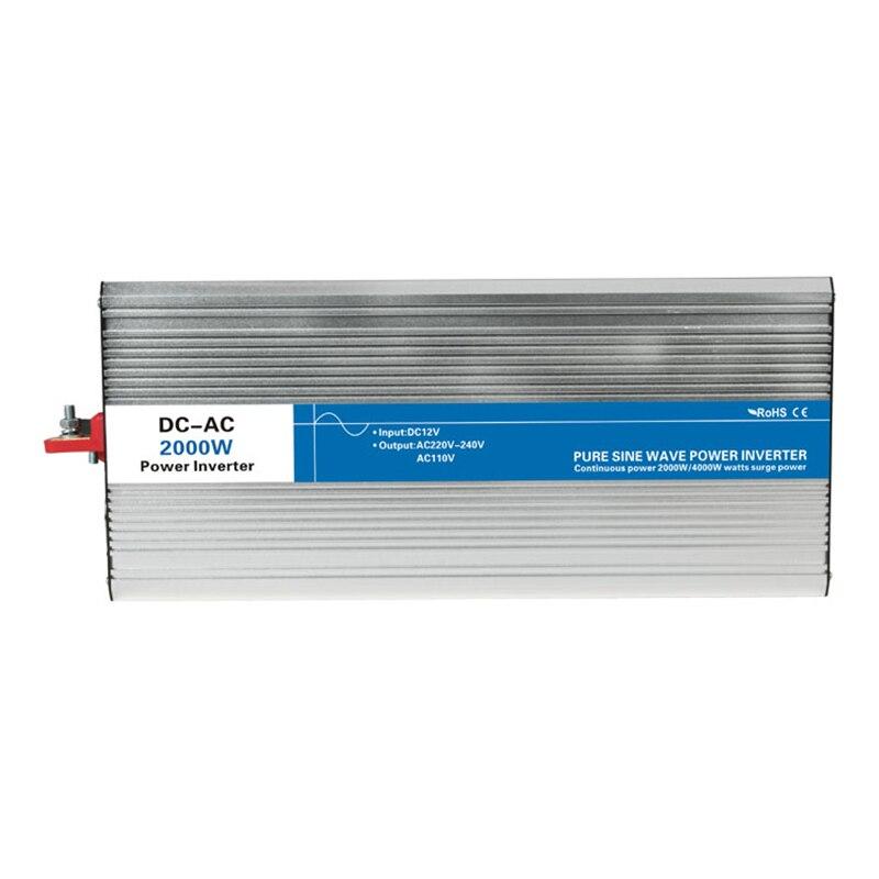 Power 2000W DC Input 12V 24V 48V AC Output 110V 220V Pure Sine Wave Grid Tie