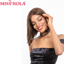 Miss rola Hair Wigs #2/4Color Brazilian straight hair weave Human Hair Wigs lace frontal 152g/pc free shipping