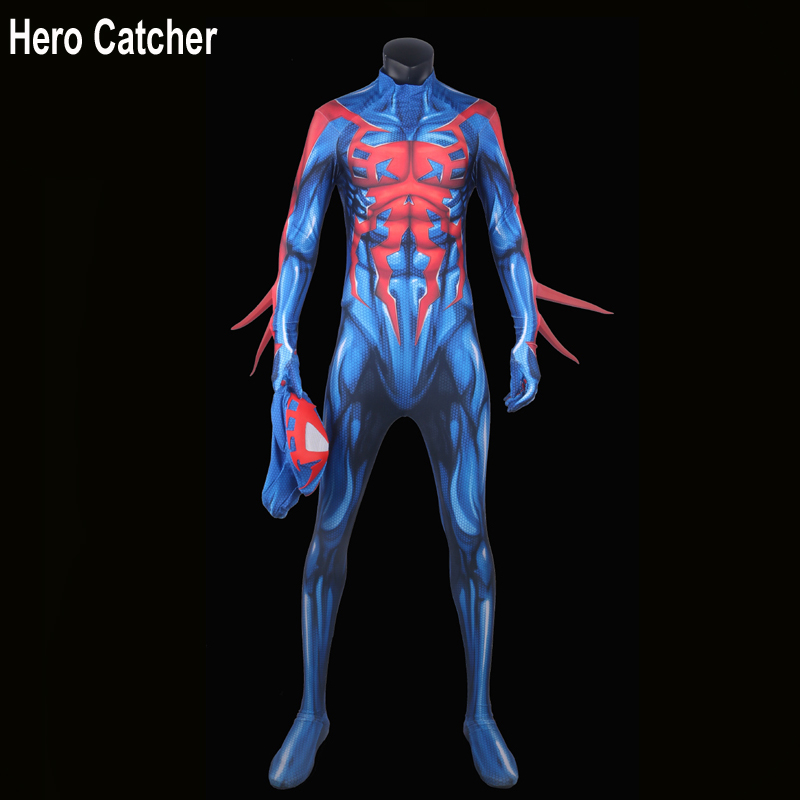 Hero Catcher High Quality Newest 2099 Spiderman Cosplay Costume 2099 Spiderman Costume Man Fullbody 2099 Spiderman