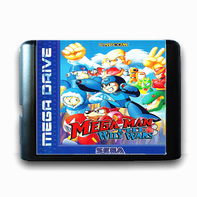 Mega Man The Wily Wars for 16 bit Sega MD Game Card for Mega Drive for Genesis Video Game Console PAL USA JAP