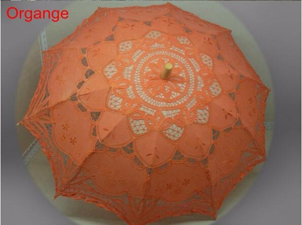 New Lace Umbrella Cotton Embroidery White/Ivory Battenburg Lace Parasol Umbrella Wedding Umbrella Decorations Free Shipping 23