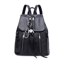 2019 Women Leather Backpacks fashion Female Shoulder Bag Travel Ladies Backpack School Bags For Girls Mochilas Shoulder pack цена в Москве и Питере