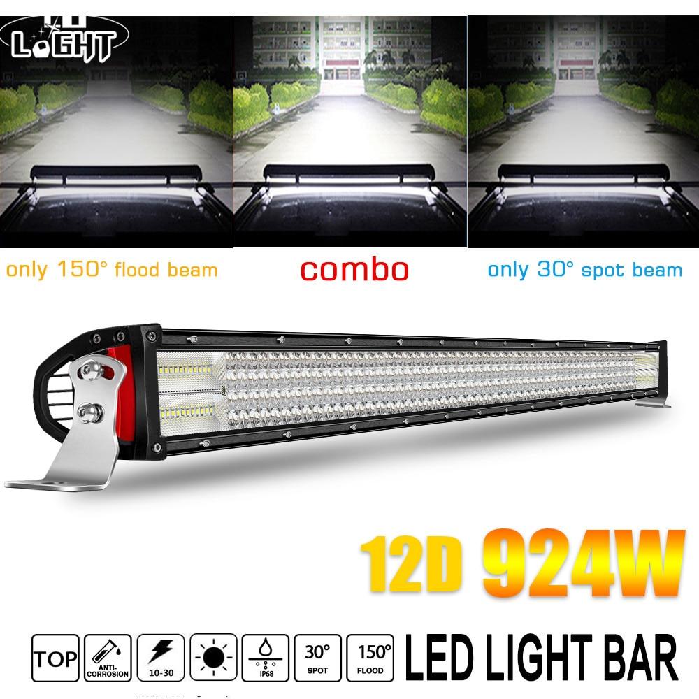 CO LIGHT 4 Row LED Light Bar Offroad 12D 52 Combo Beam 924W Led Work Light