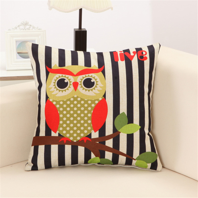 RUBIHOME Lovely Owls Cushion Without Inner Polyester Home Decor Sofa Car  Seat Decorative Throw Pillow Hot Sale Housse In Cushion From Home U0026 Garden  On ...