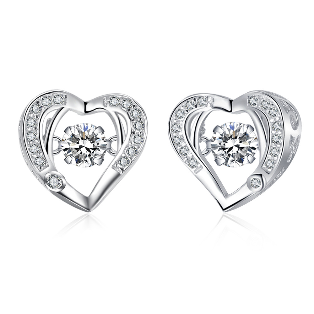 TOP14 women fine jewelry,super shiny love heart earring,925 sterling silver earring for lover nautica new blue long sleeve v neck pajama top m $32 dbfl