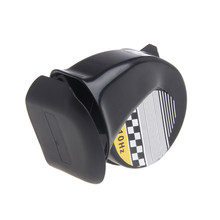Universal Waterproof Loud Snail Shaper Air Horn Siren 130dB For 12V Truck Motorcycle clothes(China)