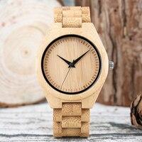 Men Watches 2017 Sport Student Japan Quartz Male Clock Wooden Hour Casual Bamboo Man S Wristwatch