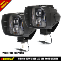 5inch New Led Driving Light 40W Led Headlight Low Beam Lamps For Car Truck Suv Atv