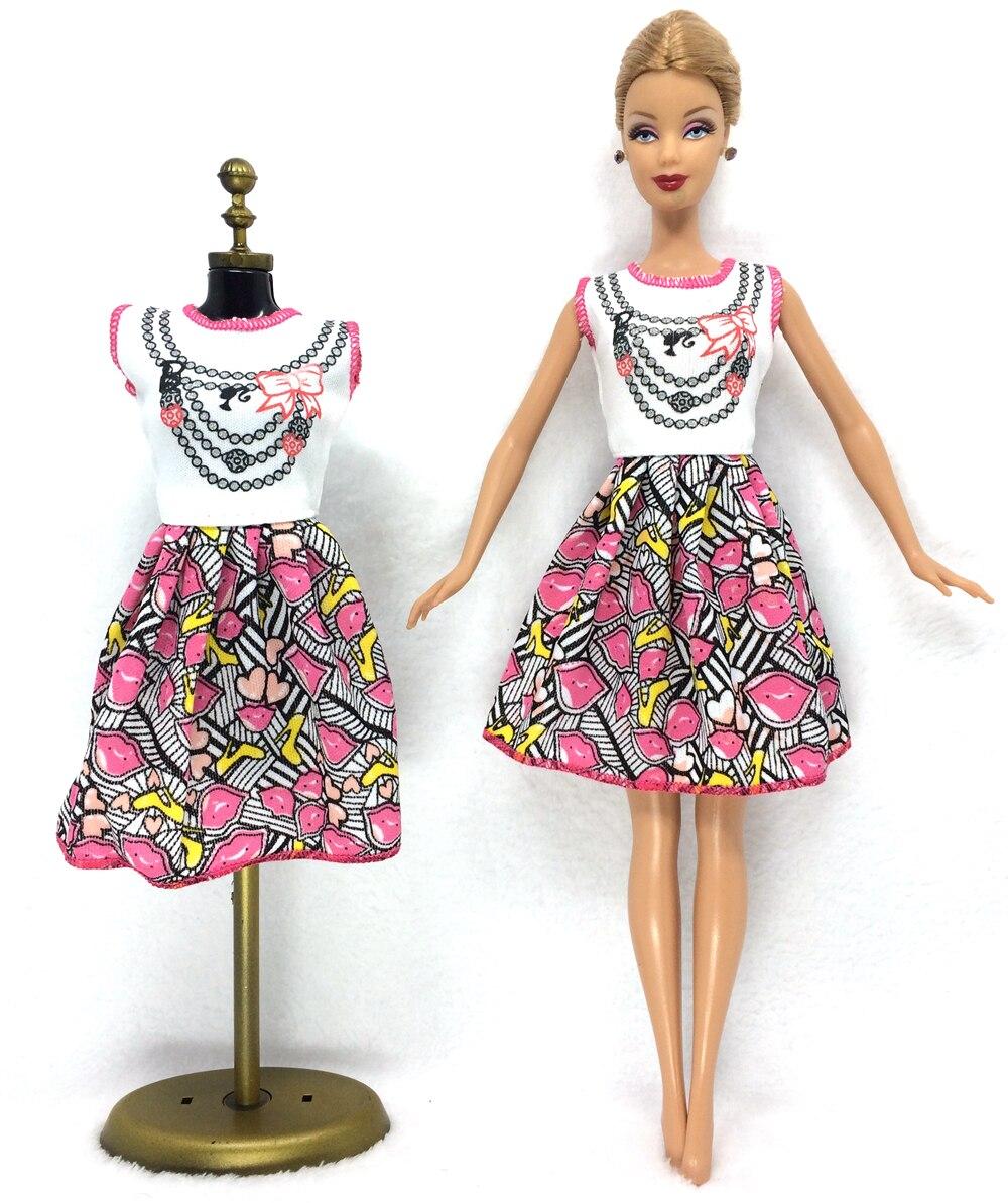 NK 2017 Newest Doll Dress Beautiful Handmade Party ClothesTop Fashion Dress For Barbie Noble Doll Best Child Girls'Gift 028A noble people платье школьное лого для девочки 29526 028 чёрный noble people