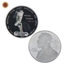 WR Nobel Prize Jacobus henrics van't Hoff серебряные коллекционные монеты химик посеребренный металл монета для коллекции