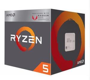 Image 1 - Новый вентилятор AMD Ryzen 5 2400G R5 2400G с Radeon RX Vega 11, кулер для графики, 4 ядерный процессор 3,6G 65 Вт YD2400C5M4MFB разъем AM4
