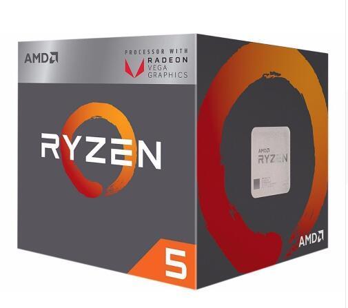Новый вентилятор AMD Ryzen 5 2400G R5 2400G с Radeon RX Vega 11, кулер для графики, 4 ядерный процессор 3,6G 65 Вт YD2400C5M4MFB разъем AM4