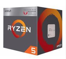 Novo amd ryzen 5 2400g r5 2400g com radeon rx vega 11 gráficos refrigerador ventilador 4 núcleo 3.6g 65w processador cpu yd2400c5m4mfb soquete am4