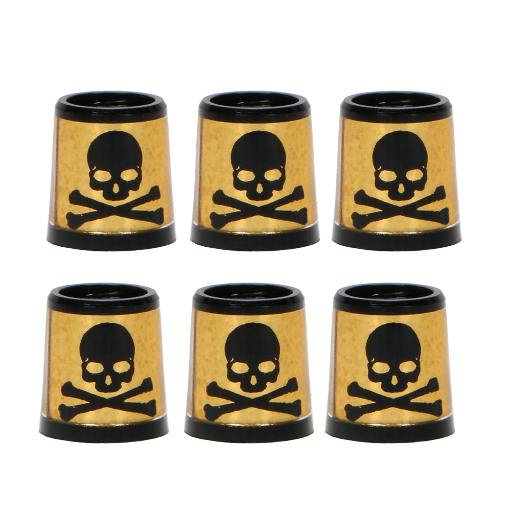 Golf Club Ferrule 0.370 Available For Irons Shaft Black Skull Pattern Wholesale Free Shipping
