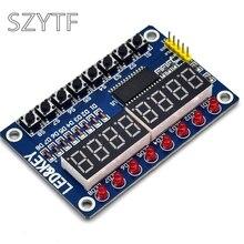 10 adet TM1638 anahtar dijital LED ekran modülü (sekiz dijital tüp LED düğmesi) Dupont hattı ile