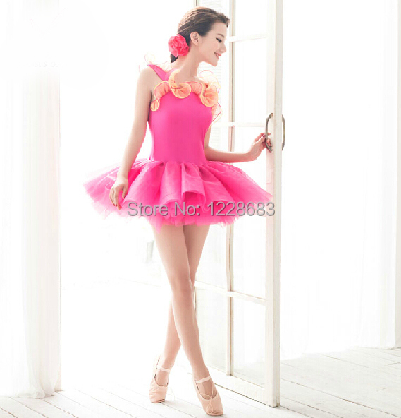 Free Shipping New 2015 Colorful Purfle Toddler Ballet Clothes Tutus Teens Kids Ballet Dresses For Girls